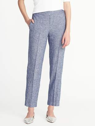 Old Navy Mid-Rise Pull-On Linen-Blend Pants for Women