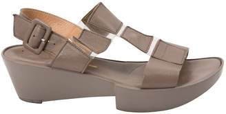 Robert Clergerie Grey Leather Sandals