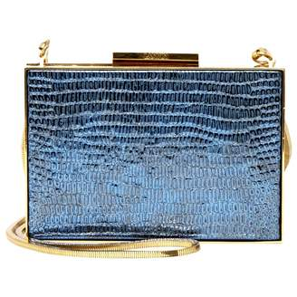 Lanvin Blue Leather Clutch Bag