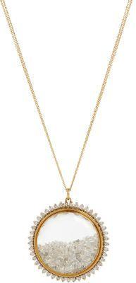 Renee Lewis Gold & Diamond-Rimmed Shake Pendant Necklace