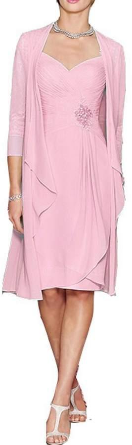 Onlinedress Women's Chiffon Short Mother of the Bride Dress with Jacket