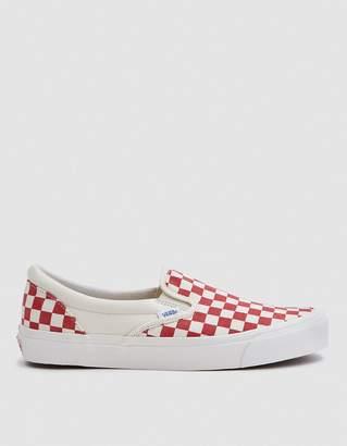 Vans Vault By OG Classic Slip-On LX in White/Red