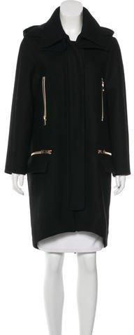 Chloé Chloé Wool Hooded Coat