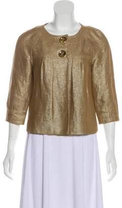MICHAEL Michael Kors Metallic Linen-Blend Jacket