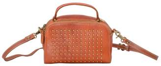 EAZO - Studs Detail Leather Cross Body Bag in Brown