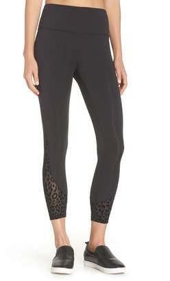 Kate Spade leopard mesh leggings