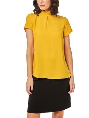Dorothy Perkins Yellow Mock Neck T-Shirt