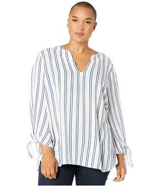 MICHAEL Michael Kors Size Double Stripe Tie Top