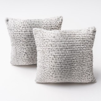 Noble House Canton Silver Dusk Fabric Pillow (Set of 2)