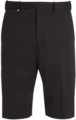 Neil Barrett Mid-rise straight-leg twill tailored shorts