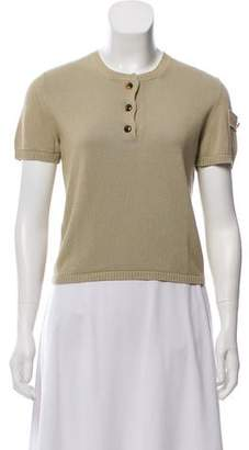 Marc Jacobs Short Sleeve Knit Top