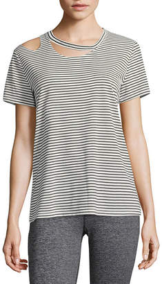 Xersion Short Sleeve Scoop Neck T-Shirt-Womens