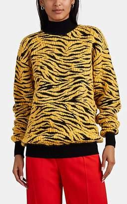 Kwaidan Editions Women's Tiger-Intarsia Virgin Wool-Blend Sweater - Black