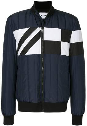 MSGM colour-block bomber jacket