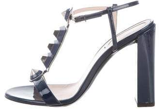 Fendi Patent Leather Stud Ankle Strap Sandals