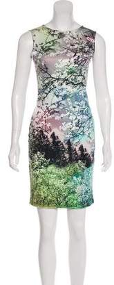 Mary Katrantzou Silk Printed Mini Dress