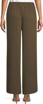 Dex Wide-Leg Tie-Waist Side-Slit Pants
