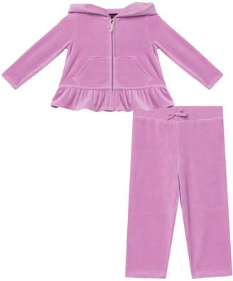 Juicy Couture Velour Rainbow Love Peplum Track Set for Baby