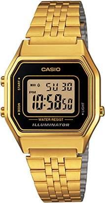 Casio Women's Digital Watch with Stainless Steel Bracelet LA680WGA-1D