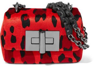 Tom Ford Natalia Mini Leopard-print Velvet Shoulder Bag - Red