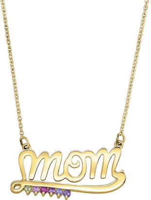 FINE JEWELRY Personalized Genuine Birthstone Mom Necklace