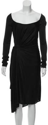 Versace Long Sleeve Mini Dress