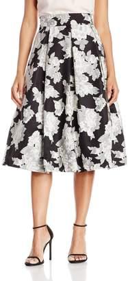 Eliza J Women's Separate Midi Skirt, Black/Ivory