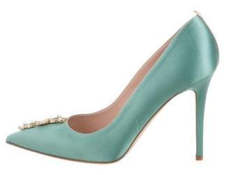 Sarah Jessica Parker Satin Embellished Pumps w/ Tags