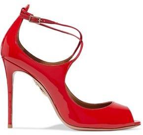 Aquazzura Woman Zani Cutout Patent-leather Pumps Red Size 35 Aquazzura VagmgKx05