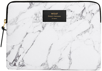 Wouf - Marble iPad Case - White