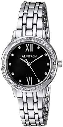Swarovski Armitron Women's 75/5516JMSV Crystal Accented -Tone Bracelet Watch