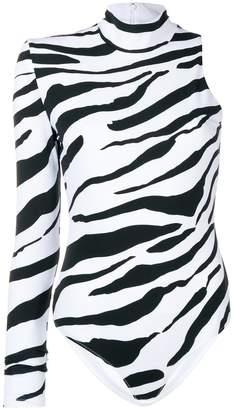 Versace zebra print bodysuit