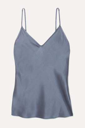 Max Mara Leisure Stretch-silk Satin Camisole - Blue