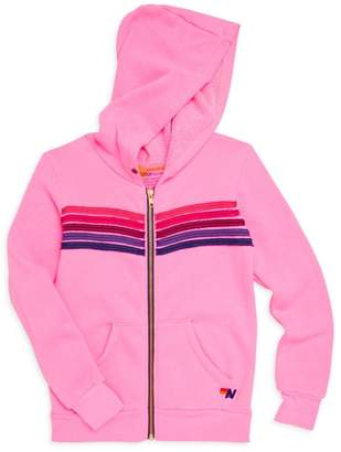 Aviator Nation Little Girl's & Girl's Stripe Hoodie