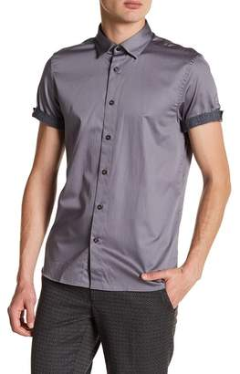 Ted Baker Lyonn Modern Slim Fit Stretch Sateen Sport Shirt