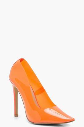 boohoo Clear Coloured Court Heels