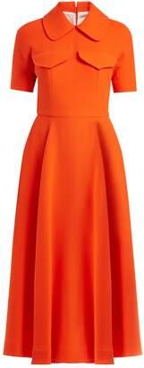 Emilia Wickstead Alice short-sleeved wool-crepe midi dress