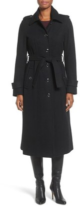 Women's Michael Michael Kors Long Belted Wool Blend Coat $300 thestylecure.com
