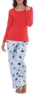 Jasmine Rose Two-Piece Top Cotton Pyjama Set