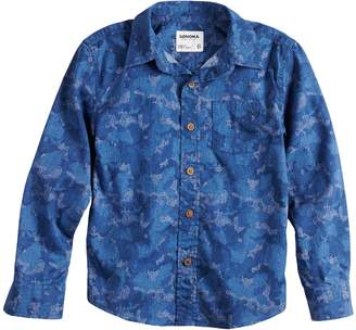 Sonoma Goods For Life Boys 4-12 SONOMA Goods for Life Camouflaged Button Down Shirt