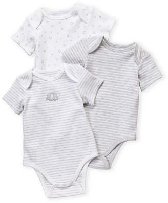 Little Me Newborn Boys) Grey 3-Pack Elephant Bodysuits