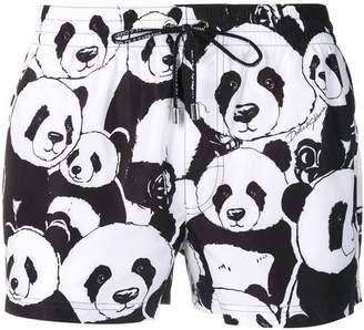 Dolce & Gabbana panda swim shorts