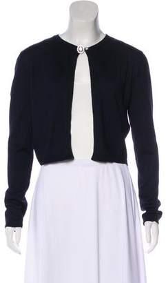 Christian Dior Silk & Cashmere-Blend Knit Cardigan