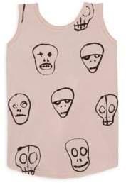 Nununu Toddler's, Littel Girl's& Girl's Skull Mask Tank Top