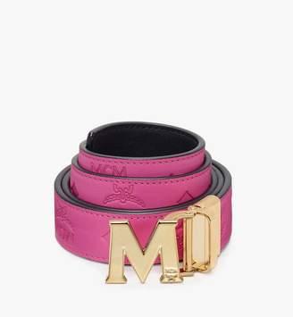 "MCM Claus Flat M Reversible Belt 1"" In Monogram Leather"