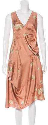 Marni Asymmetrical Floral Print Dress