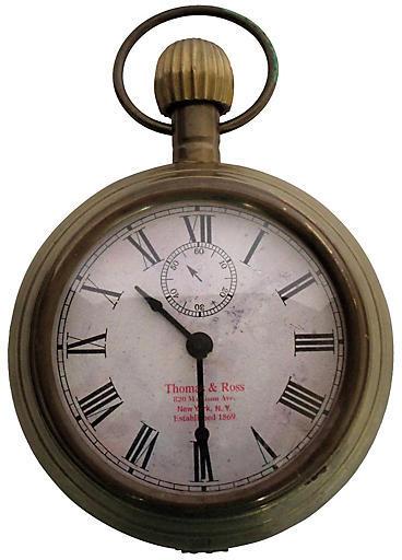 One Kings Lane Vintage 1950s Brass Pocket-Watch Desk Clock