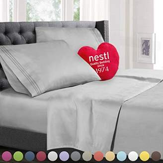 Queen Size Bed Sheets Set Silver