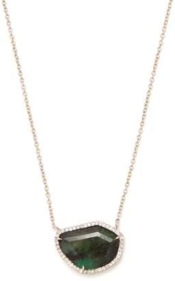 Monique Péan Diamond, emerald & white-gold necklace