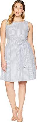 Anne Klein Women's Seersucker FIT & Flare Dress